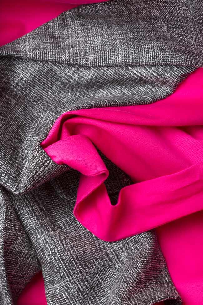 Robe bicolore en popeline de coton Lucy Framboise image 4
