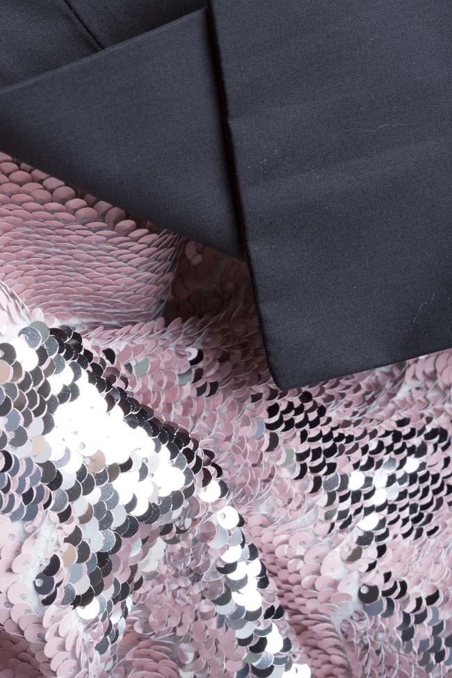 Luna bow-embellished sequined tulle mini dress Framboise image 4