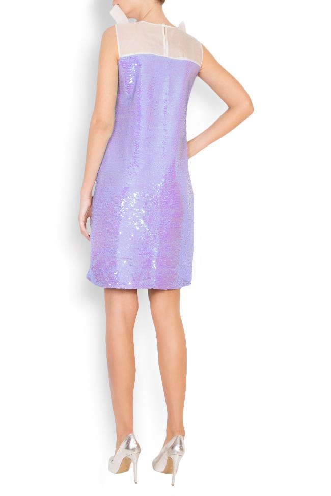 Ariana silk-organza sequined mini dress Framboise image 2