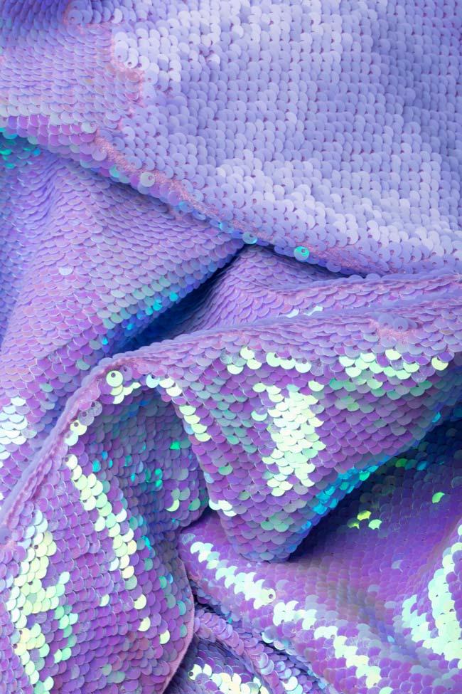 Robe en organza de soie et sequins réversibles Arian Framboise image 4