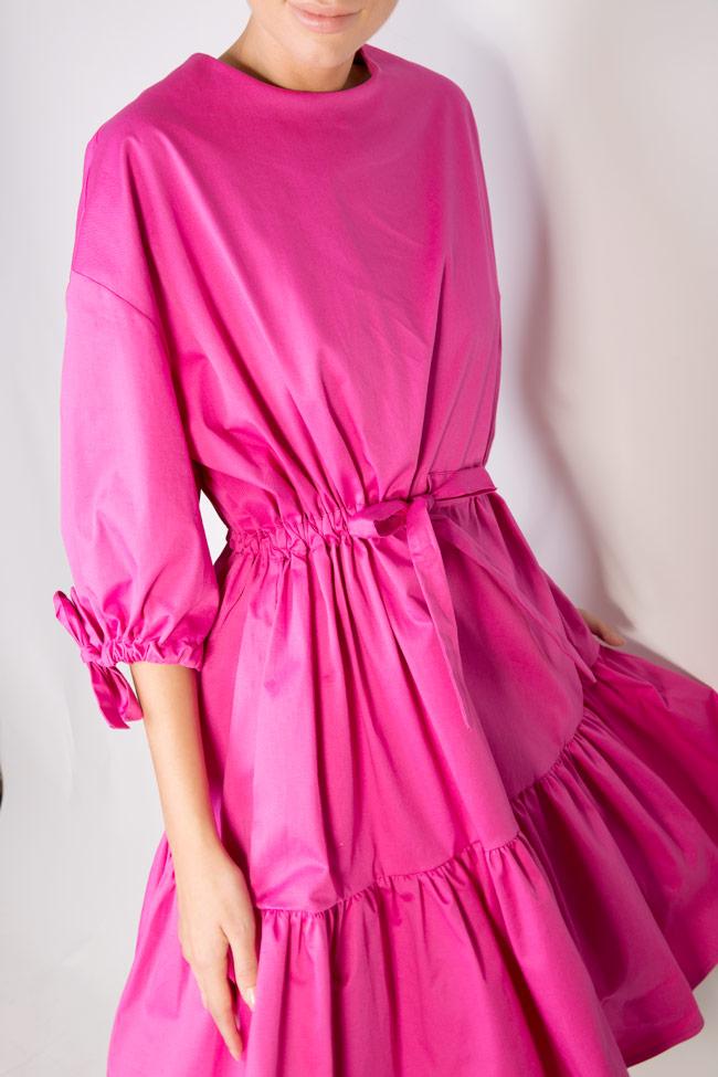 Robe en coton avec des volants Iris Framboise image 3