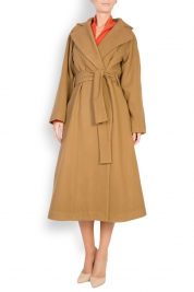 Cloche Belted wool-blend coat