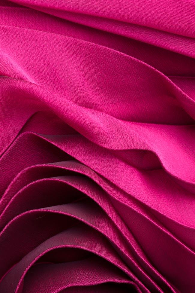 Jupe plissée en mélange de soie Cloche image 4