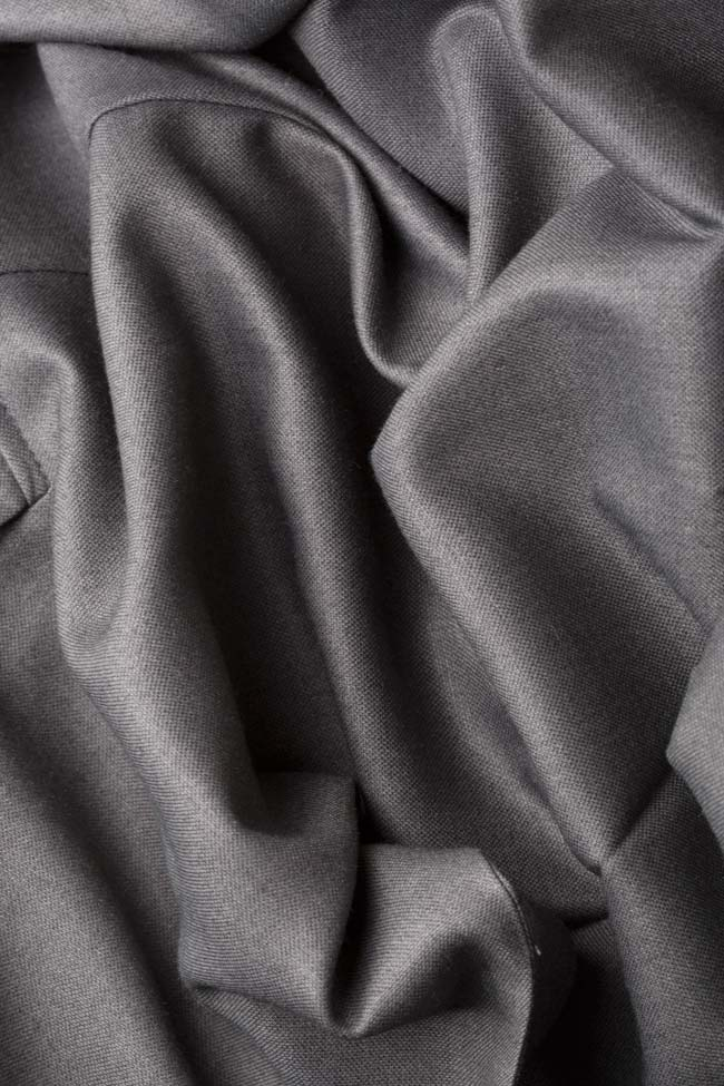 Sacou din amestec de bumbac si lana Cloche imagine 4