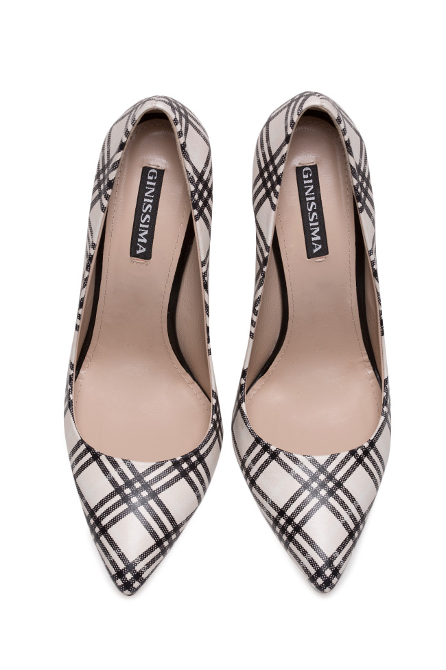 Alice90 checked leather pumps Ginissima image 2