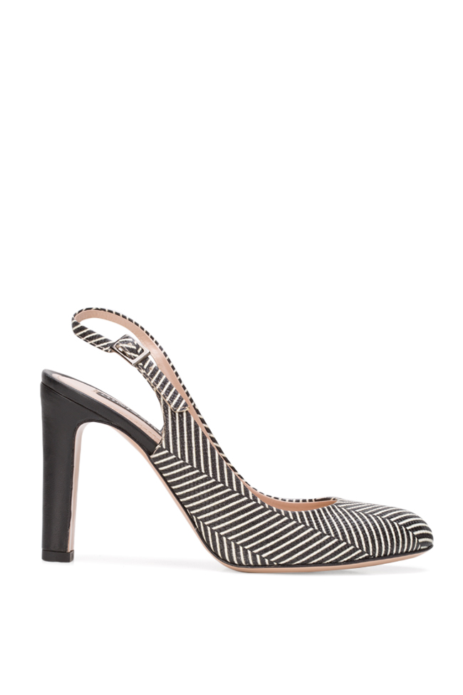 Agata90 printed leather slingback pumps Ginissima image 0