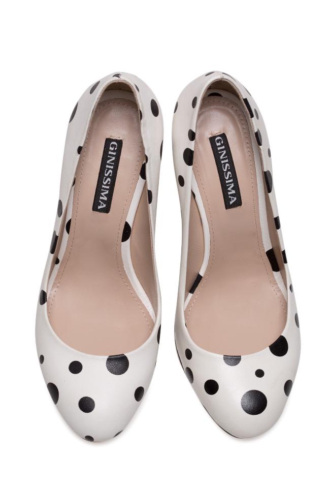 Pantofi din piele Alice90 Perfecti Bubles Ginissima imagine 2