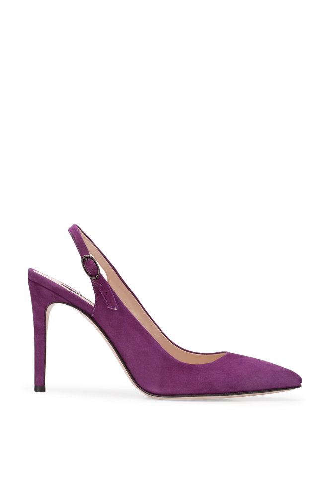 Alice90 suede slingback pumps Ginissima image 0