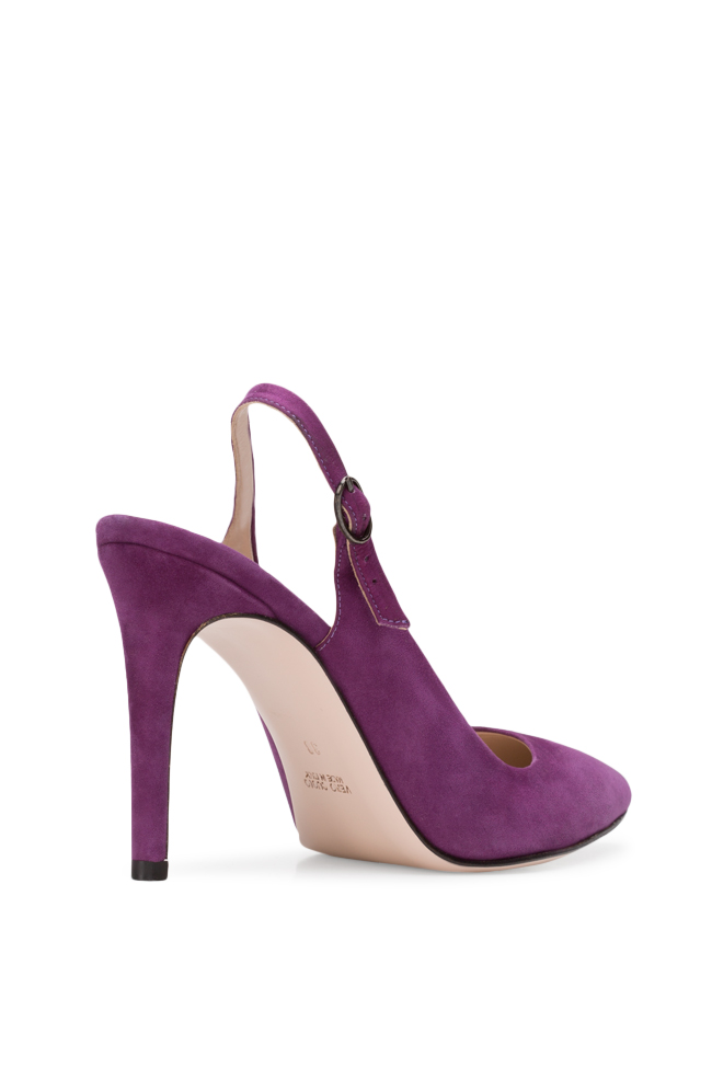 Alice90 suede slingback pumps Ginissima image 1