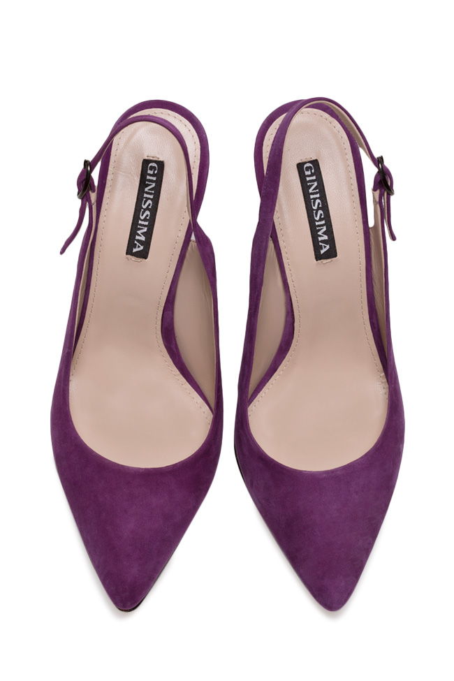 Alice90 suede slingback pumps Ginissima image 2