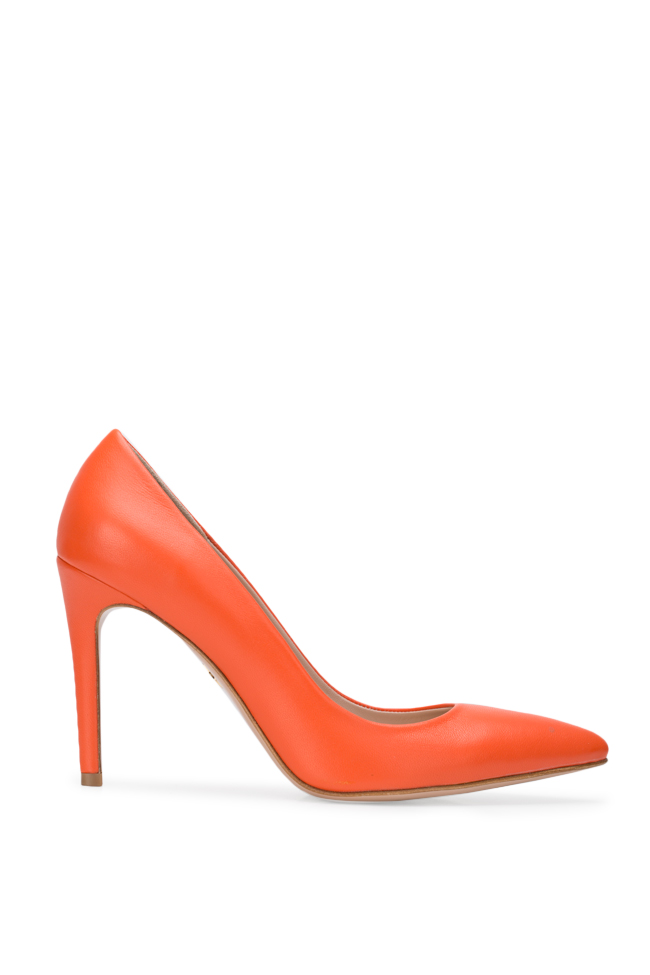 Chaussures en cuir Alice90 Perfecti Orange Ginissima image 0