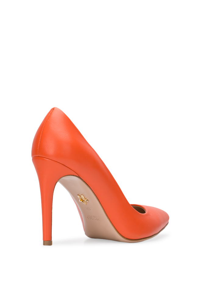 Chaussures en cuir Alice90 Perfecti Orange Ginissima image 1