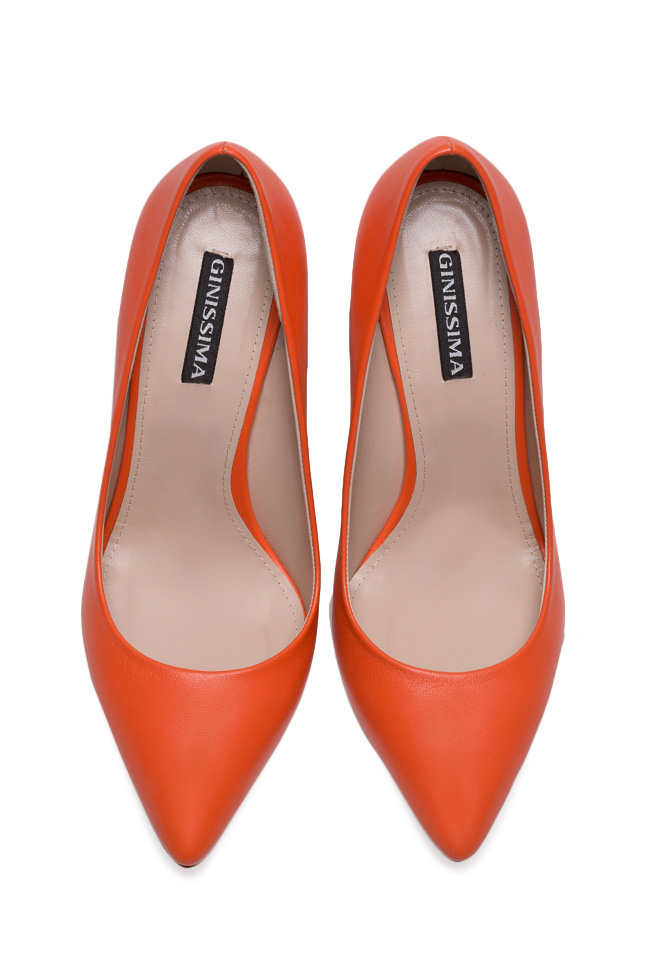 Chaussures en cuir Alice90 Perfecti Orange Ginissima image 2