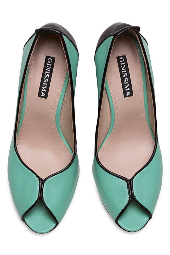 Chaussures en cuir avec talon évasé Lisa90 Ginissima image 2