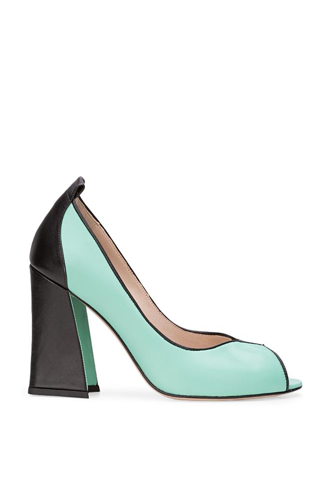 Chaussures en cuir avec talon évasé Lisa90 Ginissima image 0