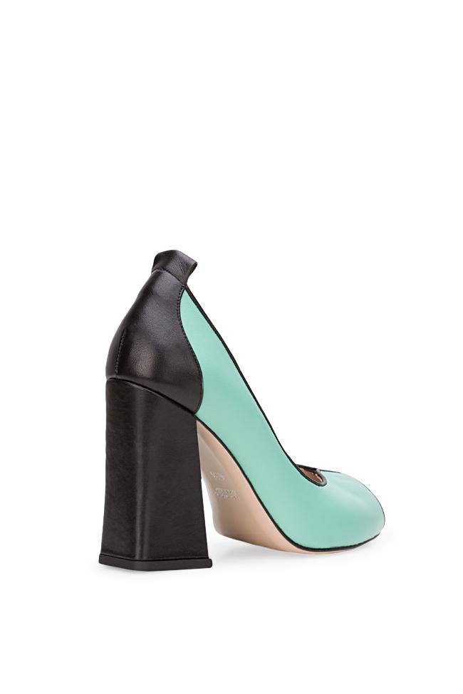 Chaussures en cuir avec talon évasé Lisa90 Ginissima image 1