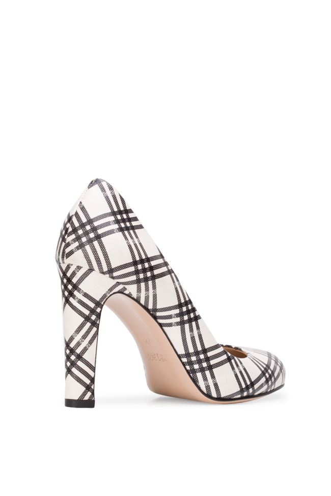 Agata90 checked leather pumps Ginissima image 1