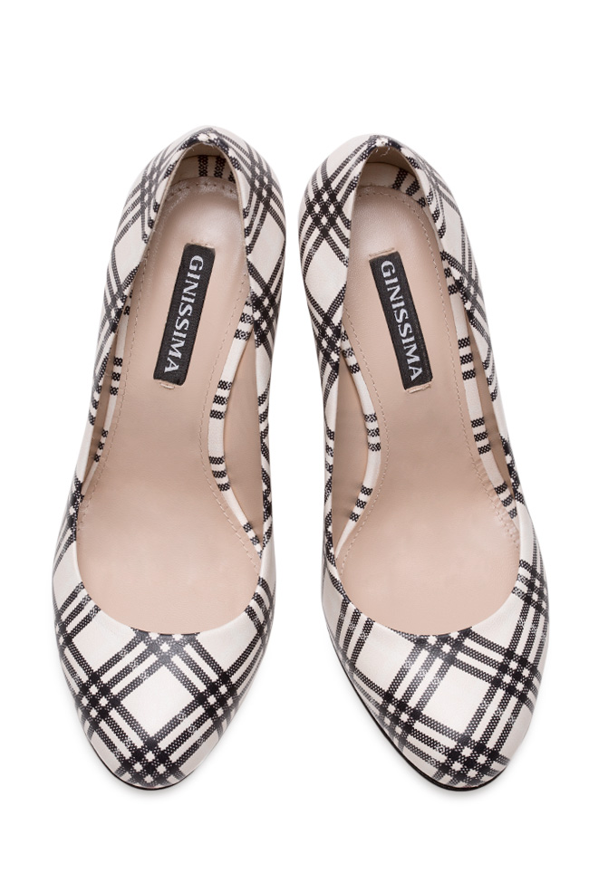 Agata90 checked leather pumps Ginissima image 2