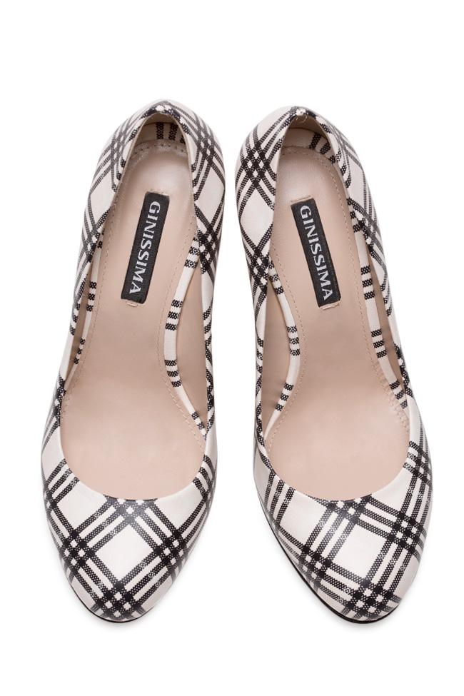 Pantofi din piele imprimata Agata90 Ginissima imagine 2