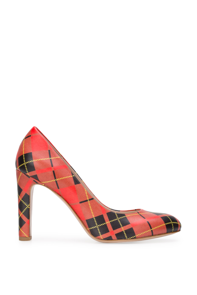 Agata90 checked leather pumps Ginissima image 0