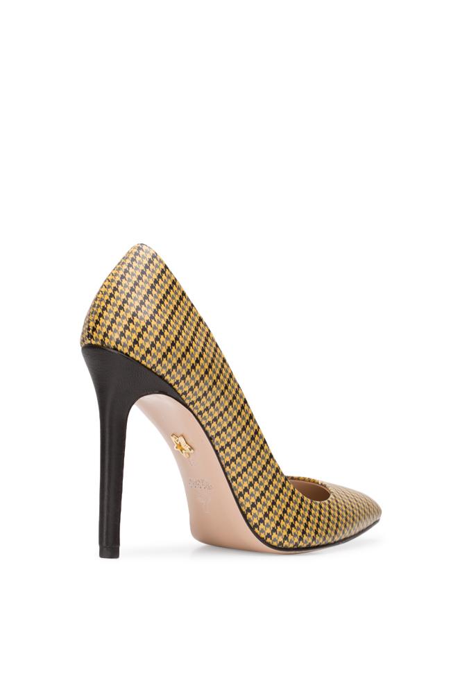 Pantofi din piele imprimata Alice90 Ginissima imagine 1