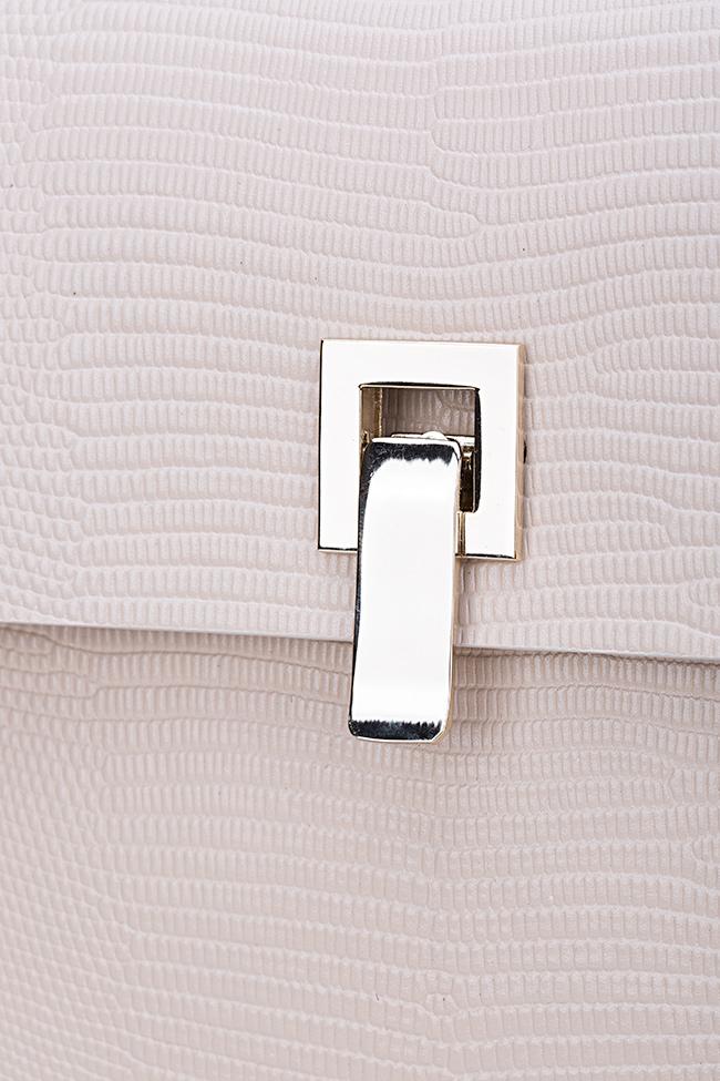 Geanta supradimensionata din piele texturata cu accesorii din metal Desna Catalin Onocan imagine 3