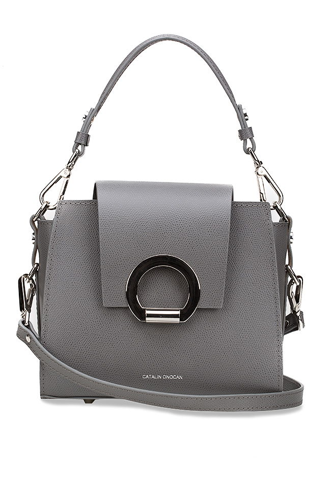 Rita textured-leather shoulder bag Catalin Onocan image 0