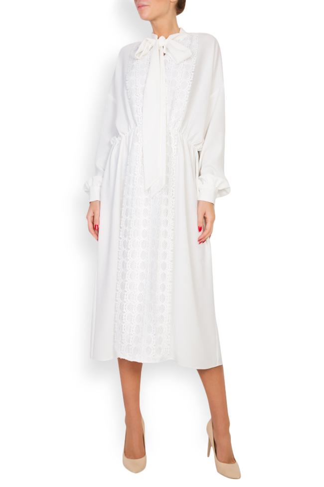 Robe en mélange de coton avec broderie apliquée Zenon image 0
