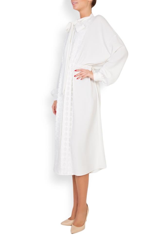 Robe en mélange de coton avec broderie apliquée Zenon image 1