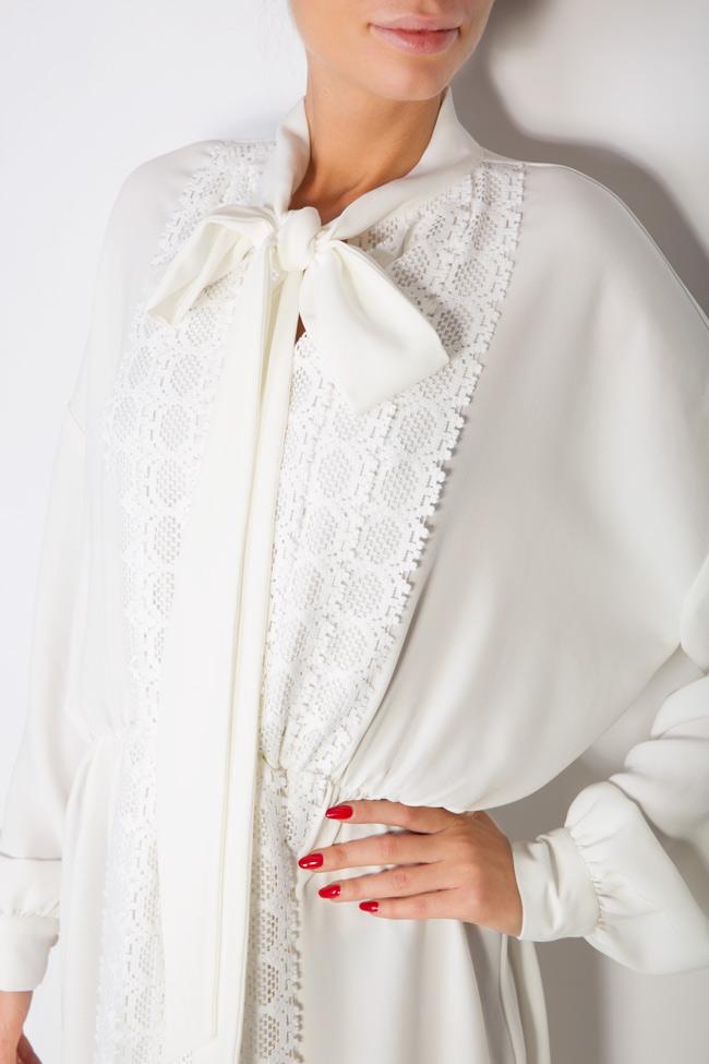 Robe en mélange de coton avec broderie apliquée Zenon image 3
