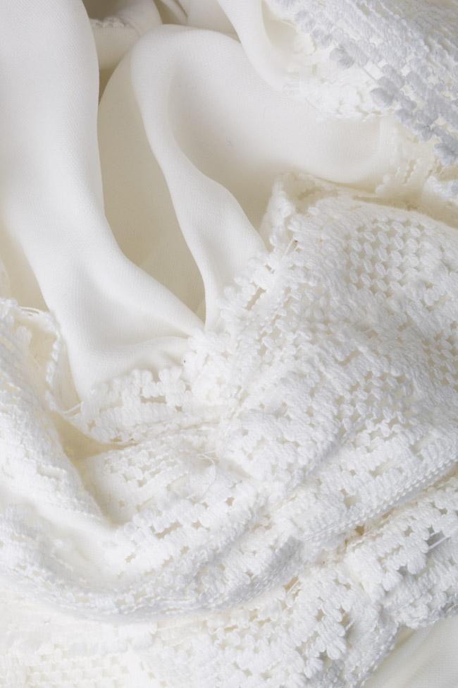 Robe en mélange de coton avec broderie apliquée Zenon image 4