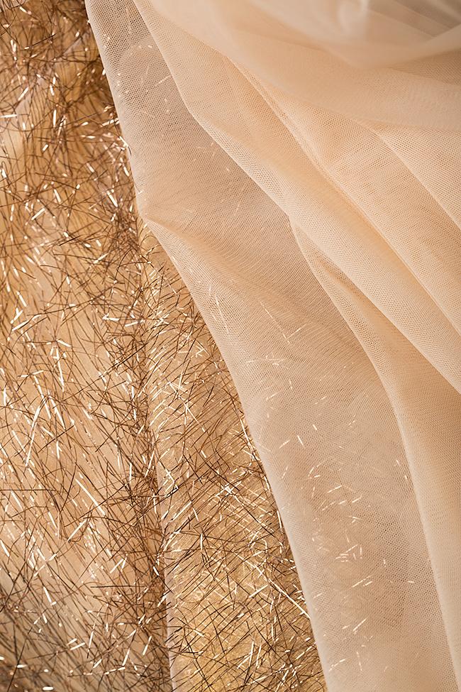 Rochie din tul cu aplicatii metalizate Felicity Simona Semen imagine 4