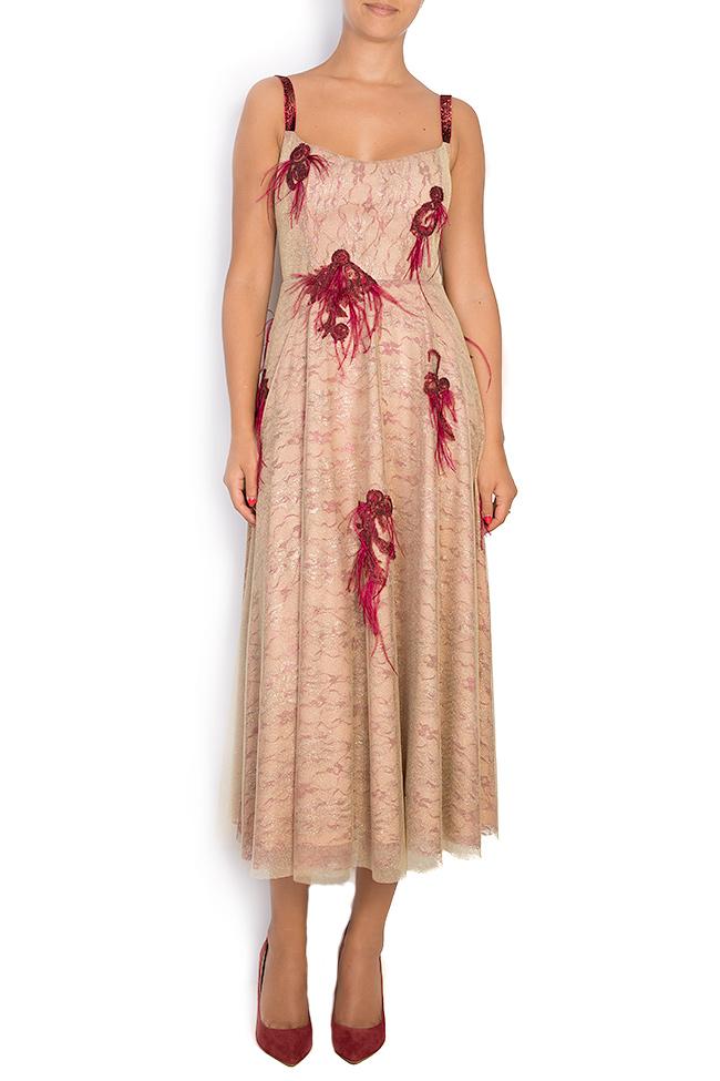 Fania embroidered velvet-trimmed tulle gown Simona Semen image 0