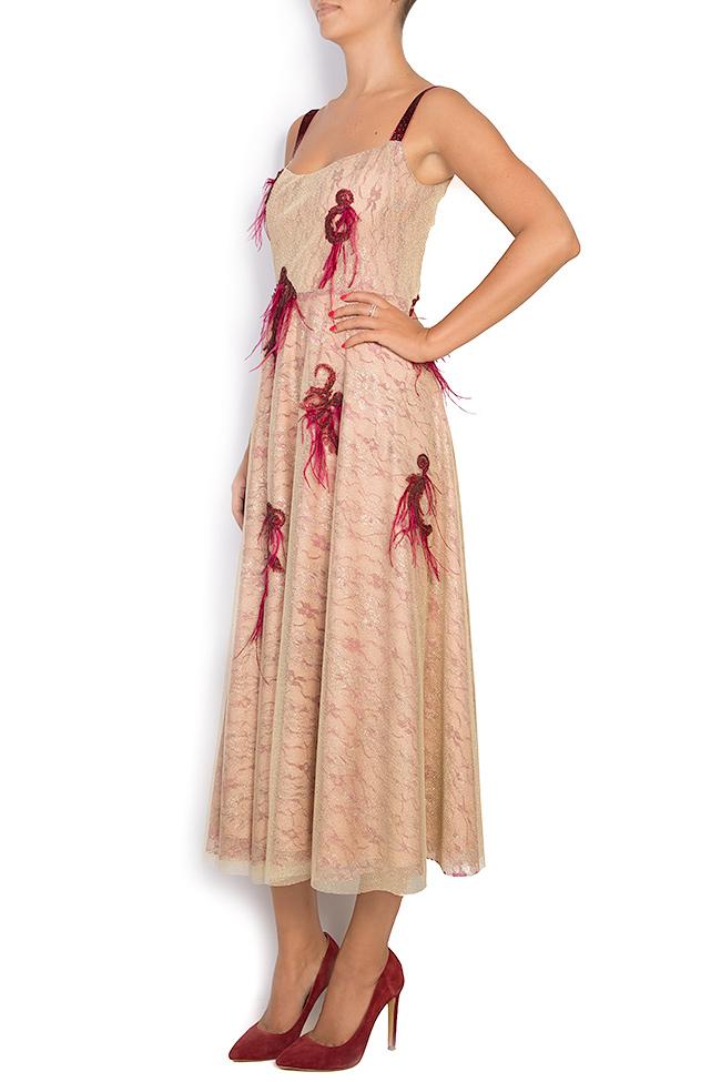 Fania embroidered velvet-trimmed tulle gown Simona Semen image 1