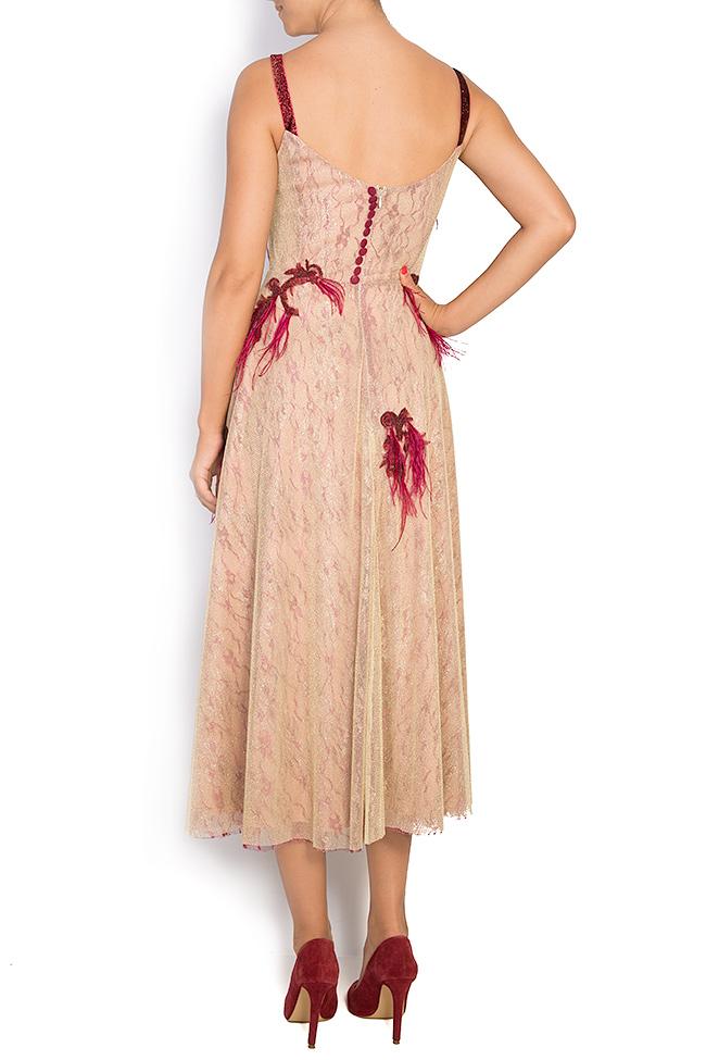 Fania embroidered velvet-trimmed tulle gown Simona Semen image 2