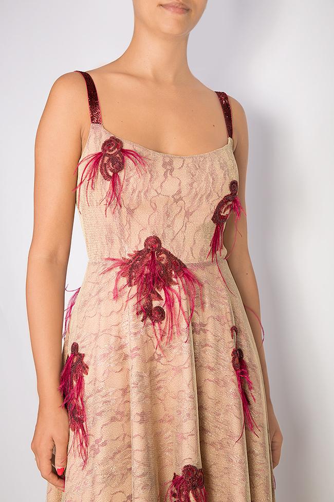 Fania embroidered velvet-trimmed tulle gown Simona Semen image 3