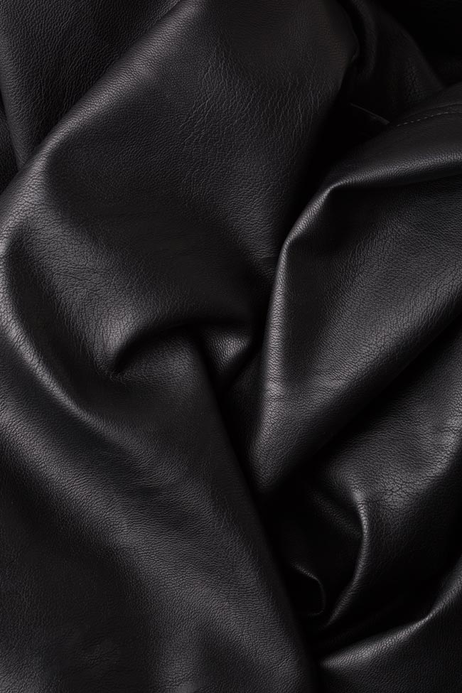 Oversized faux-leather trench coat LOOMY image 4