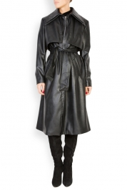 LOOMY Oversized faux-leather trench coat