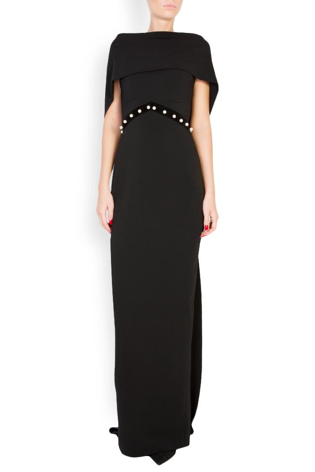 Embellished silk-blend crepe open-back dress Vitoria image 0
