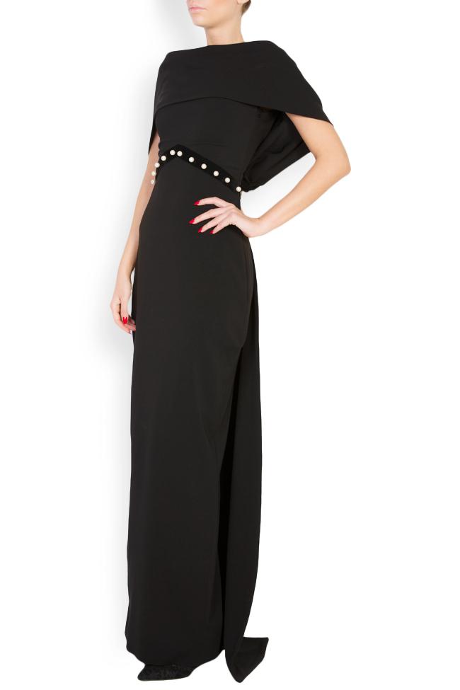 Embellished silk-blend crepe open-back dress Vitoria image 1