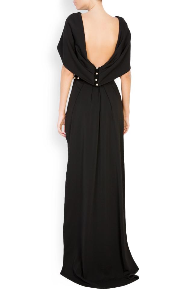 Embellished silk-blend crepe open-back dress Vitoria image 2