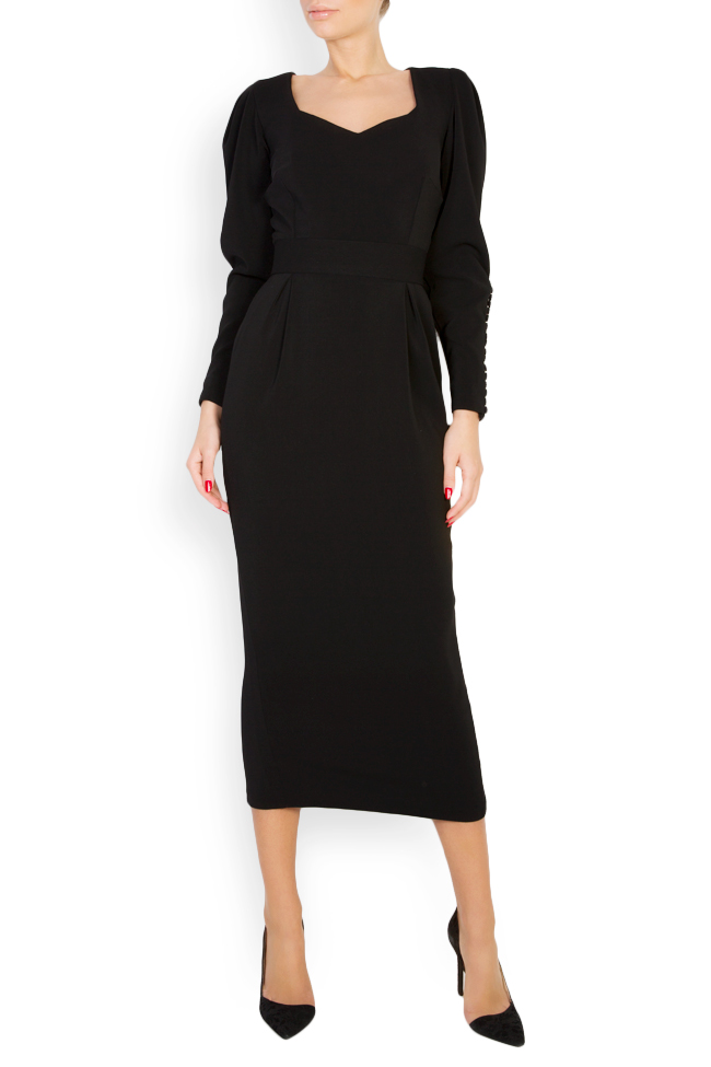 Amal silk-blend crepe midi dress Vitoria image 0