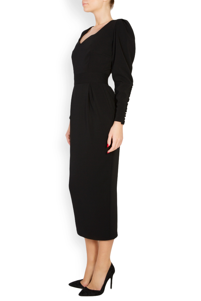 Amal silk-blend crepe midi dress Vitoria image 1