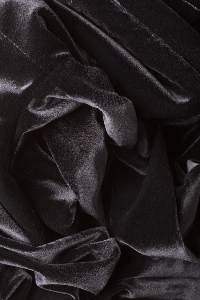 Rochie de catifea din amestec de matase Vitoria imagine 4