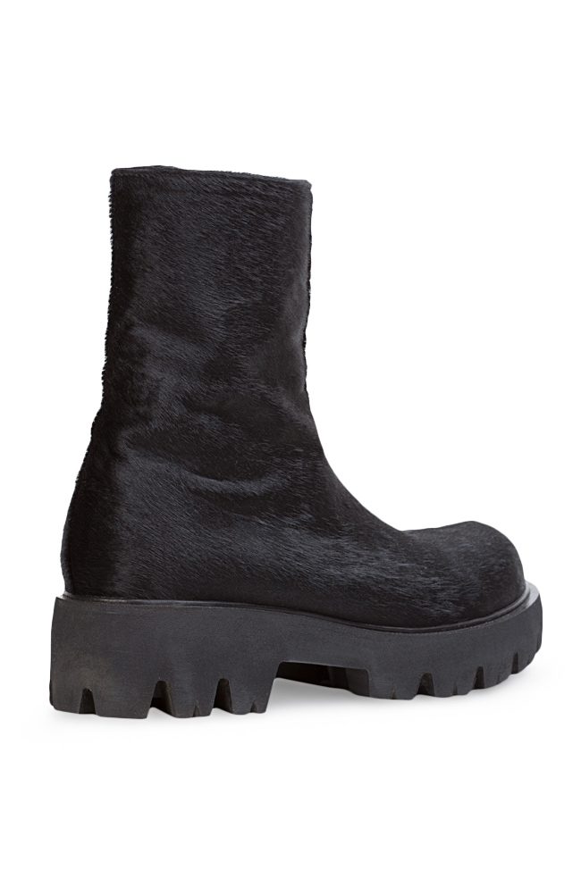 Fur and leather ankle boots Mihaela Gheorghe image 1