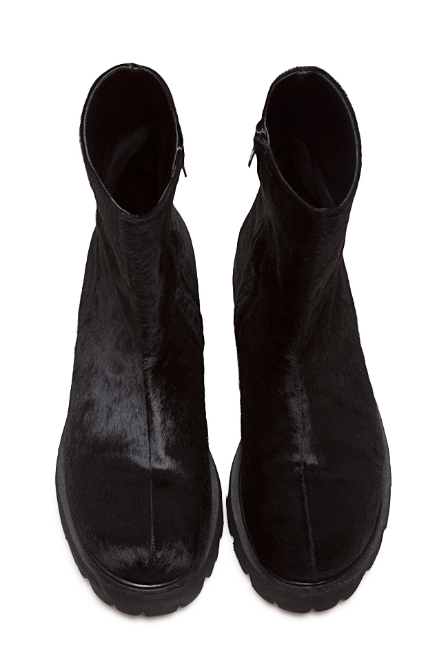 Fur and leather ankle boots Mihaela Gheorghe image 2