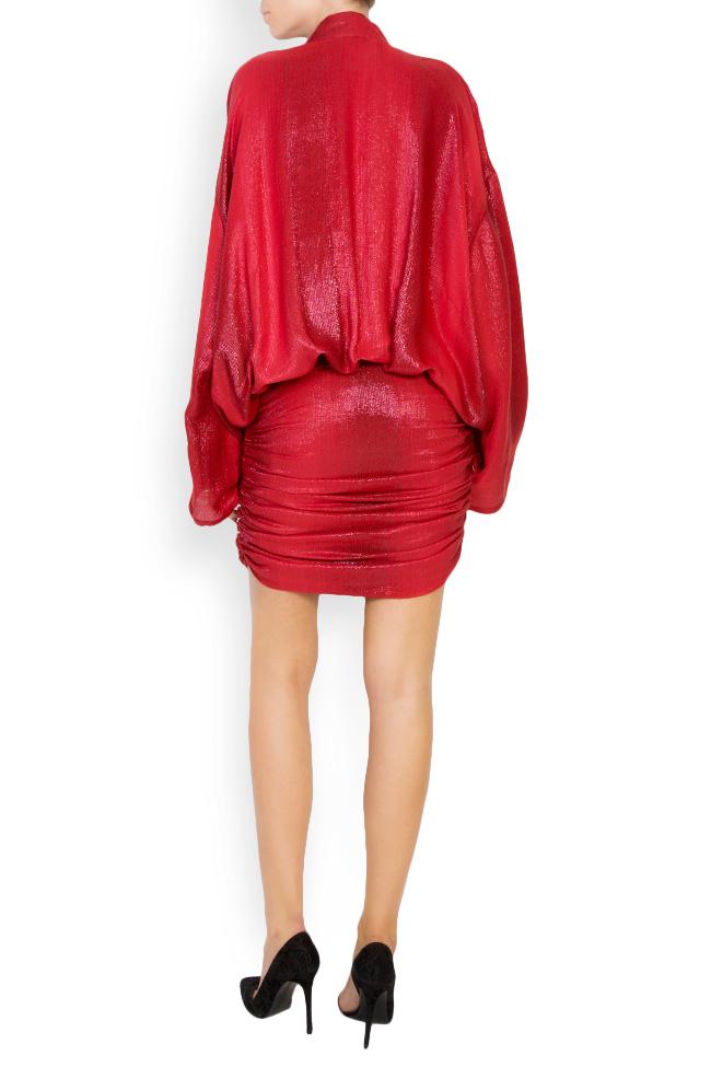 Kaya metallic silk wool-blend mini dress Manuri image 2