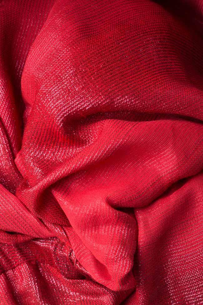 Rochie din amestec de lana si matase metalizata Kaya Manuri imagine 5