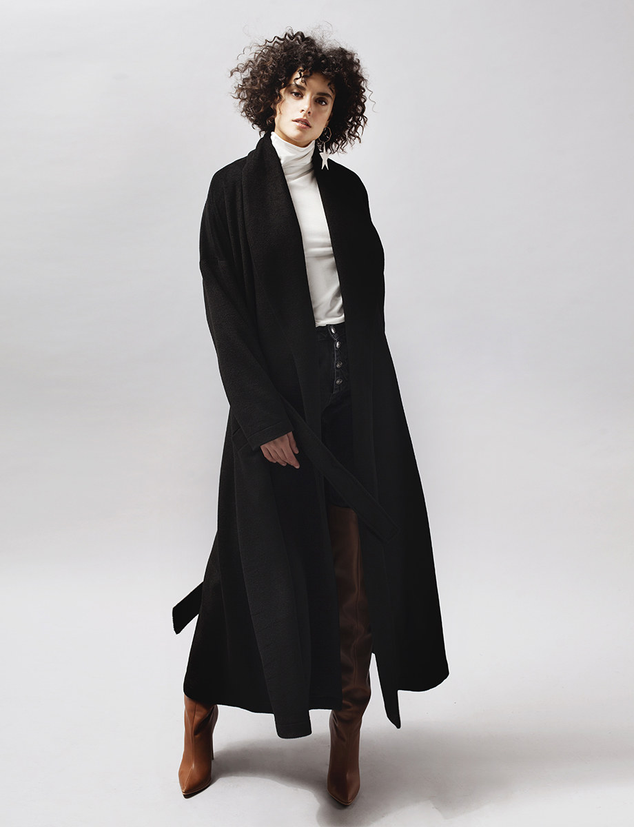 Chloe wool and cashmere-blend coat Manuri image 4