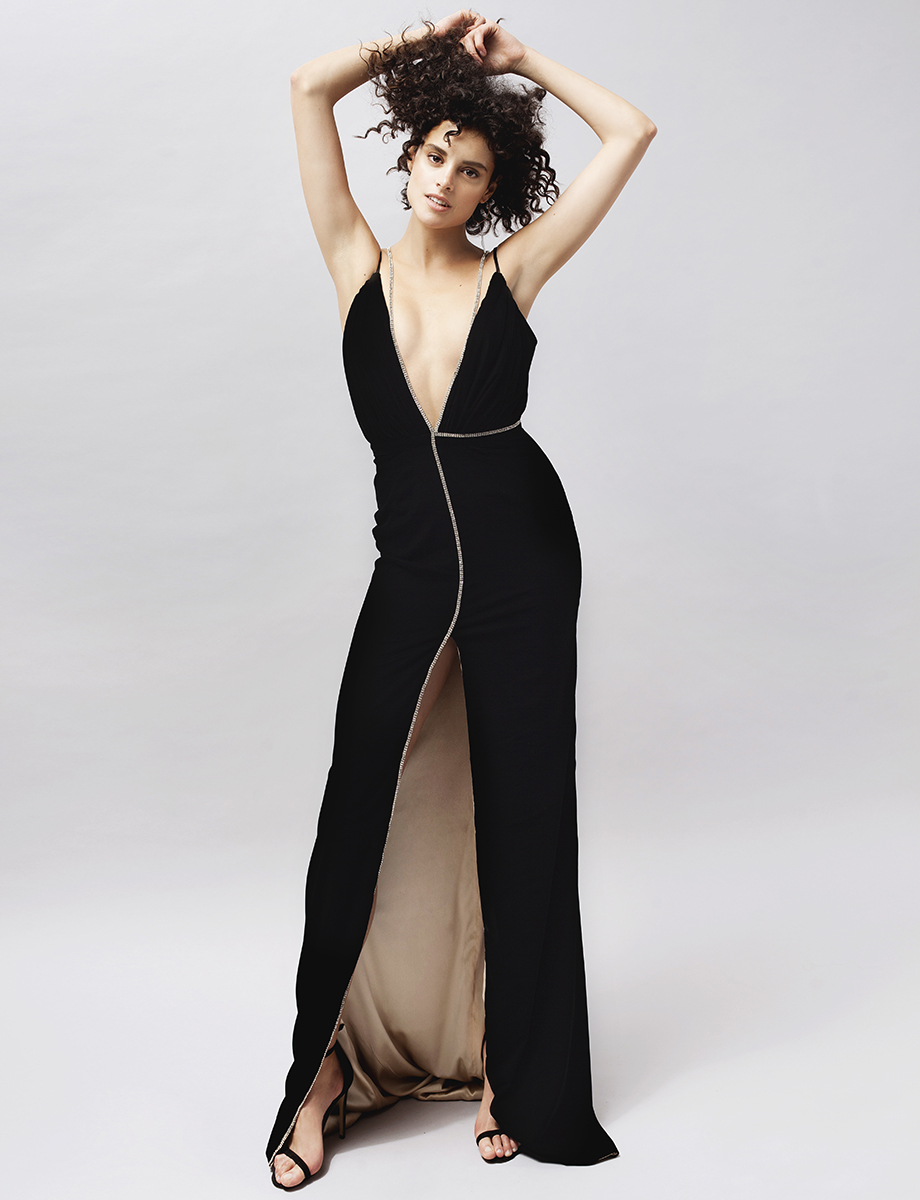 Martha open-back embellished silk velvet gown Manuri image 4